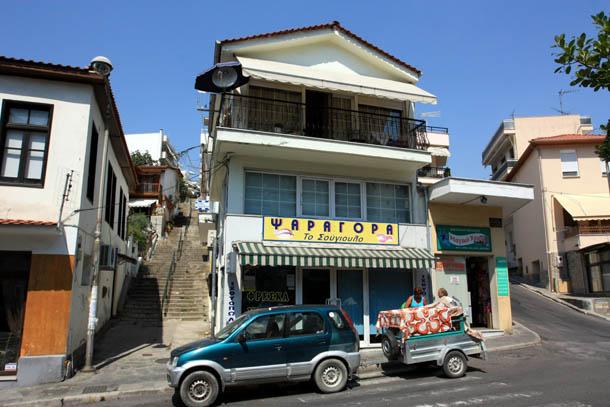 Рыбный магазин в Греции