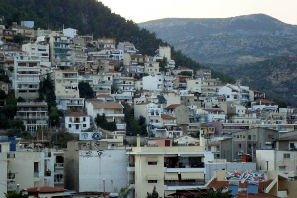 Кавала - домики на склонах гор