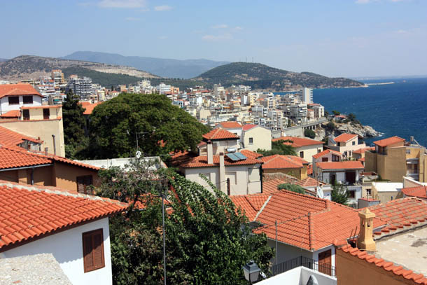 Кавала - вид с городских крыш