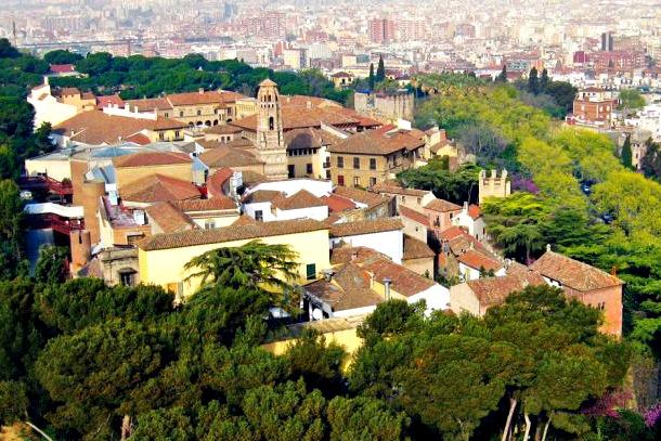 Испанская деревня - панорама
