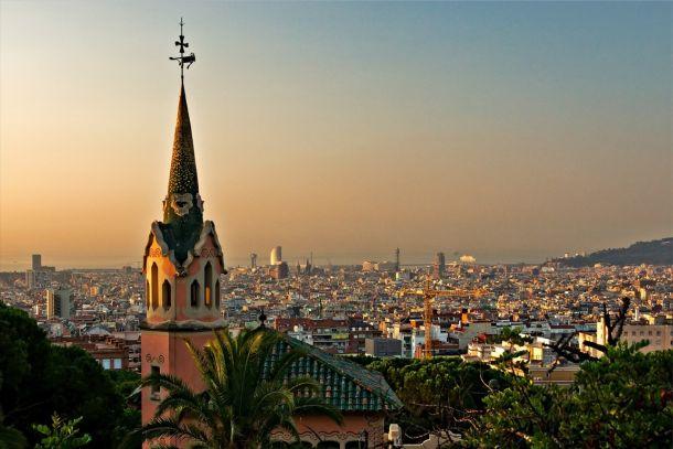 Барселона, вид на город