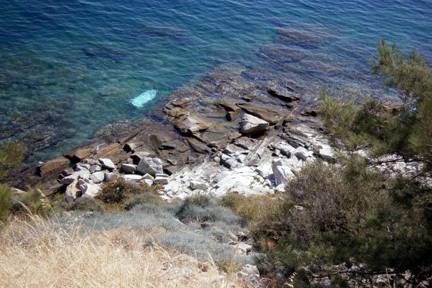 Скальный берег моря