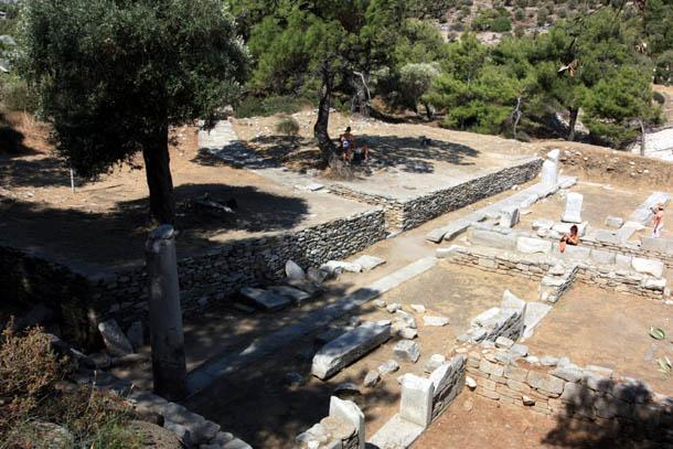 остатки древнего города на острове Тасос