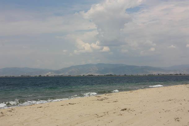 Кучевые облака над островом Тасос