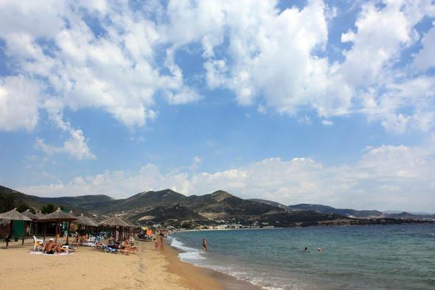 Фантастически красивый пляж в Греции