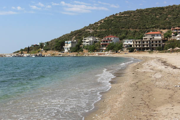 Неа Карвали вид пляжа