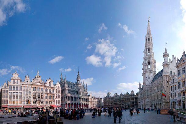 Вид на площадь Гран-Плас в Брюсселе