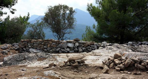 Развалины акрополя на Тасосе