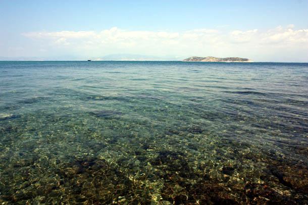 прозрачные воды острова Тасос