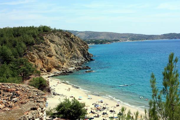 Вид на пляж Металия
