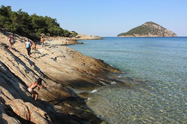 Райский пляж в Греции