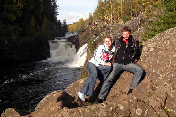 Водопад Кивач в Карелии, Россия