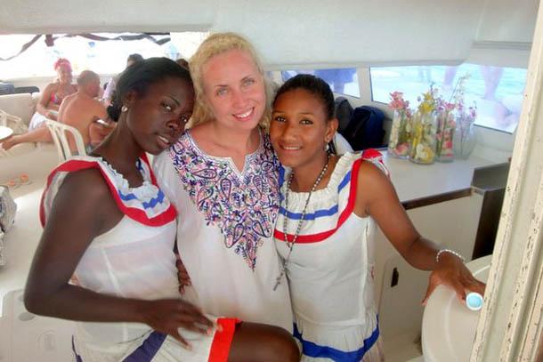 С девчонками в Доминикане