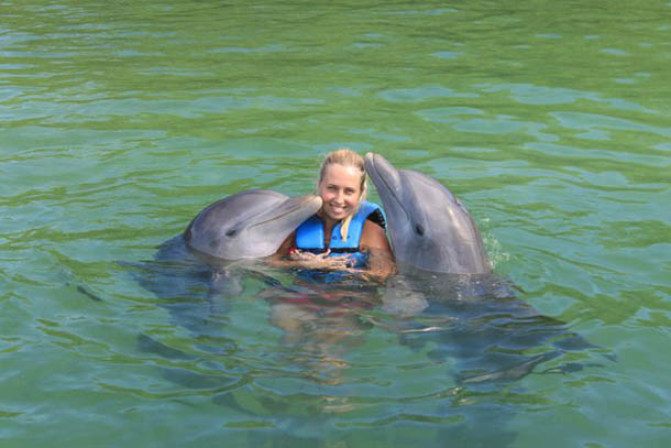 На Кубе с дельфинами