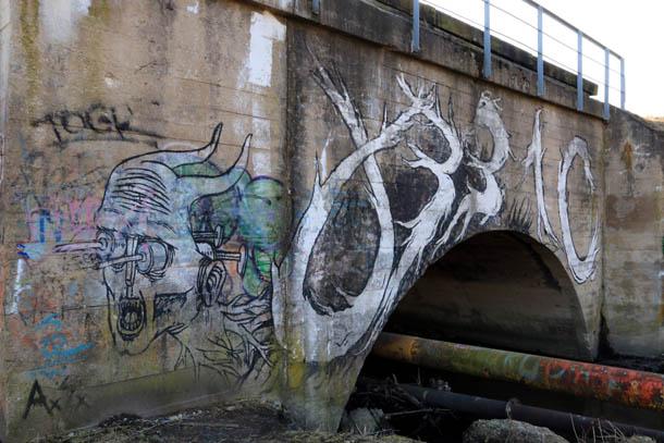 Немецкий мостик в граффити