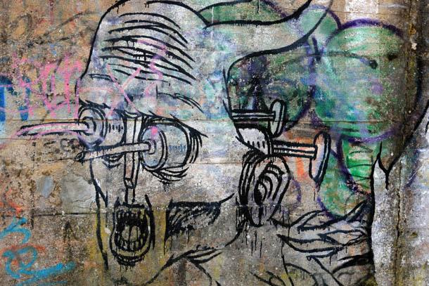 страшное граффити