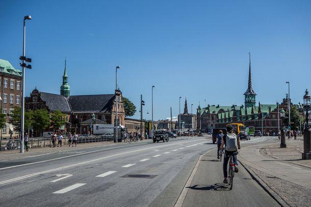 Велосипедная дорожка в Дании