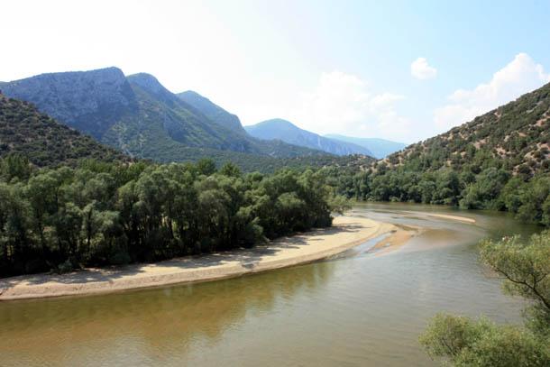 дельта реки Нестос - панорама
