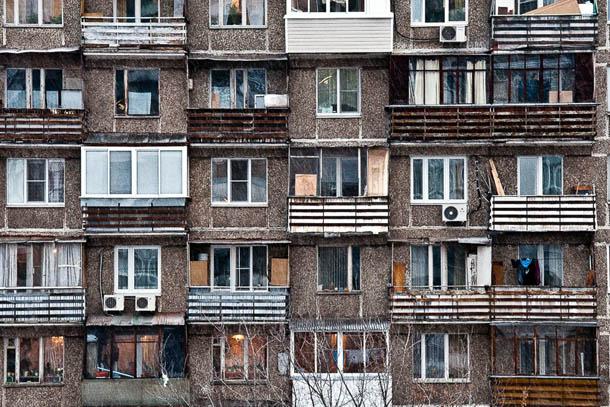Печальный вид из нашего окна в Москве