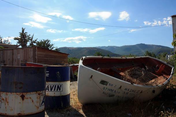 Место, где хранят лодки местные рыбаки