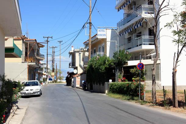 улочка греческой деревни