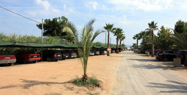 Парковка пляжа Амолофи