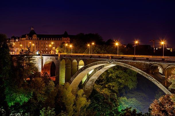 Ночной Люксембург