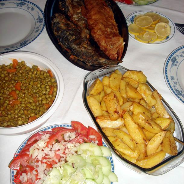 Домашний сербский ужин.