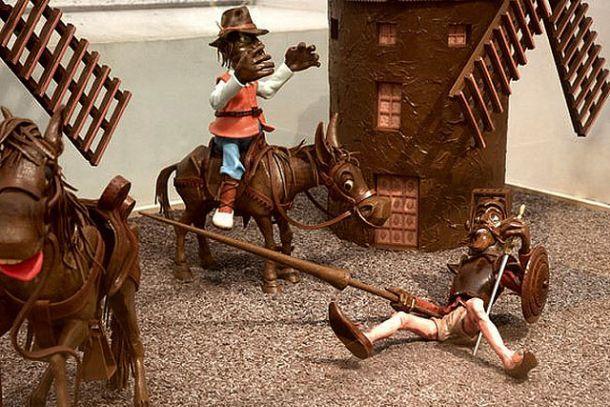 Экспонаты музея шоколада в Барселоне