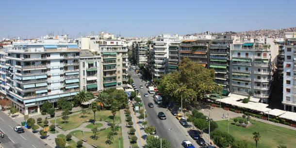 улица в Салониках