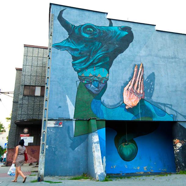 необычная голова граффити