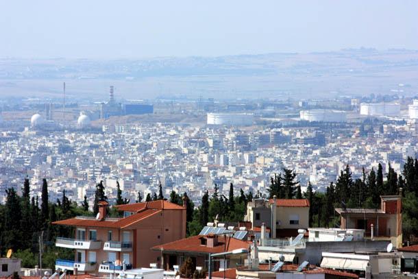 панорама Салоник с крепости