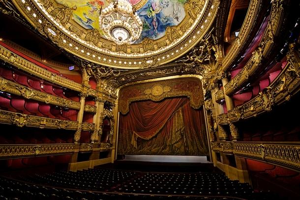 Зрительный зал Фойе оперы Гарнье