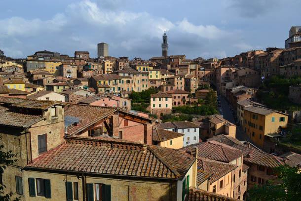 Средневековый город Сиена в Италии (Тоскана)