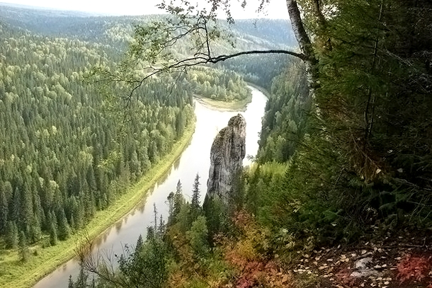 Каменные столбы на реке Усьва