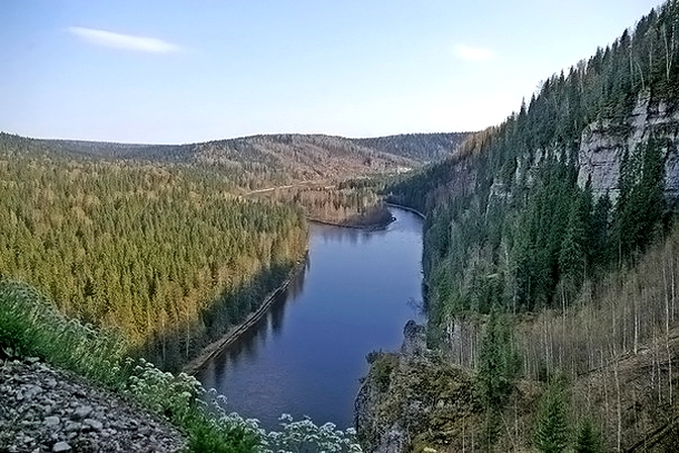 Вид на реку Усьва