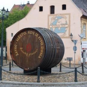 Храм хмеля и пива в городке Жатец