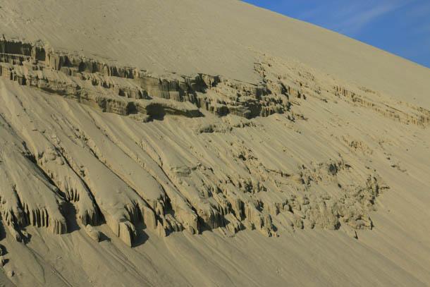 сползание дюн