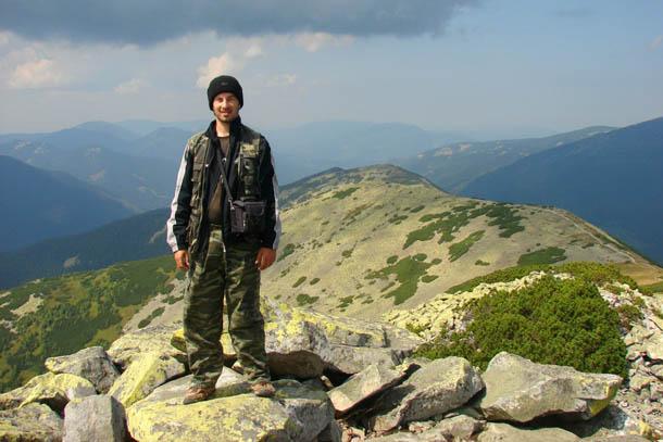 Карпаты, я на вершине горы Большая Сивуля (1836 м)