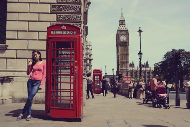 Лондон 2014 год. Катя напротив парламента.