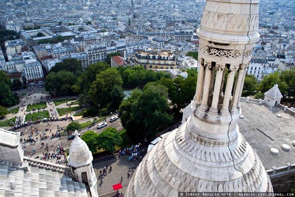 Париж, вид с базилики Сакре-Кер.