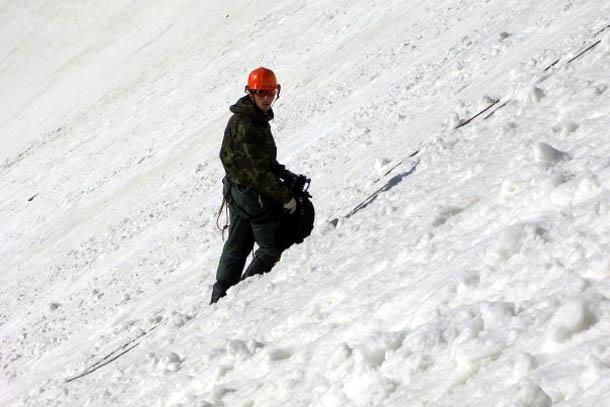 Во время восхождения на одну из вершин в Кабардино-Балкарии (Северный Кавказ).