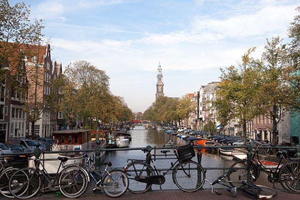 Вид на канал, Амстердам