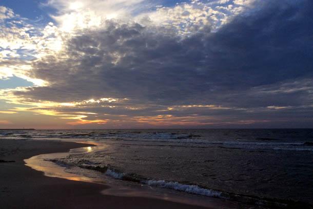 закат в Балтийске