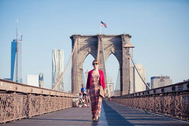 Бруклинский мост - отличное место для фотосессий