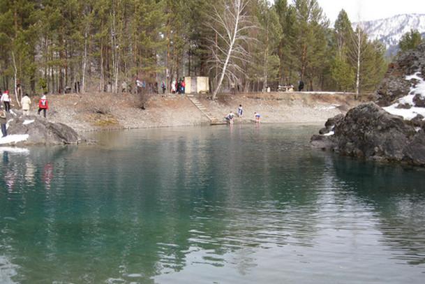 Баня на берегу Голубых Озер