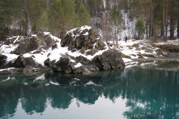 Голубые озера на Алтае