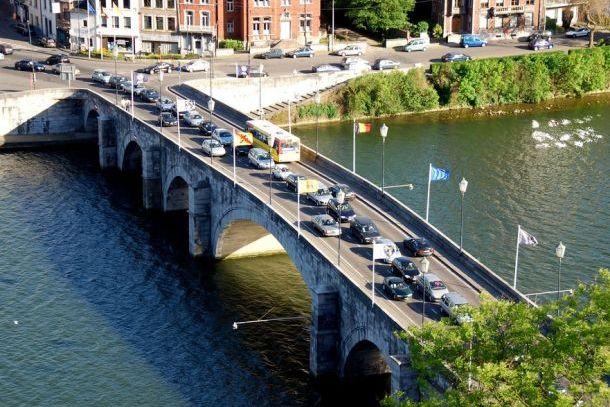 Вид на мост Жамб сверху