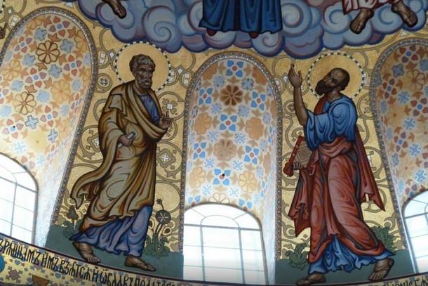 Внутренняя роспись Морского собора в Кронштадте