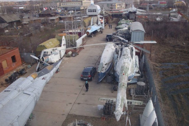 Вид сверху на Музей авиации